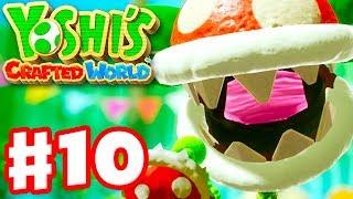 Yoshi's Crafted World - Gameplay Walkthrough Part 10 - Spike the Piranha Boss Fight! Acorn Forest!