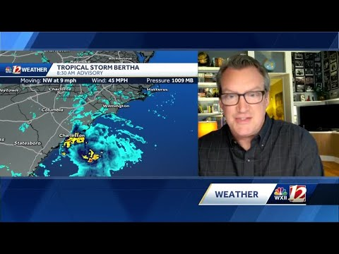 North Carolina under flash flood watches as Tropical Storm Bertha moves inland