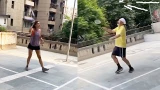 Watch: Rakul Preet Singh playing shuttle with her dad..