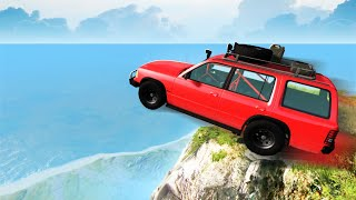 Driving Off A 10,000FT CLIFF! Jumps & Crashes