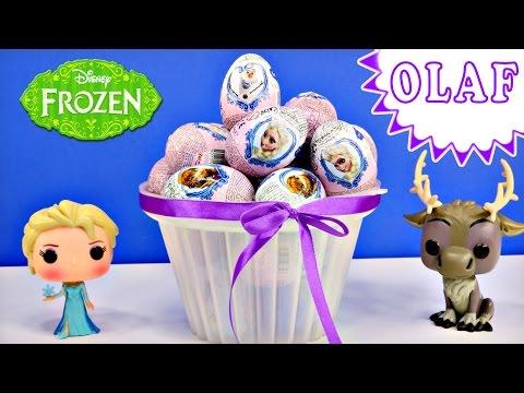 Disney Frozen Surprise Toy Eggs Where is Olaf? Elsa Princess Anna Huevo Congelado Sorpresa Princesa