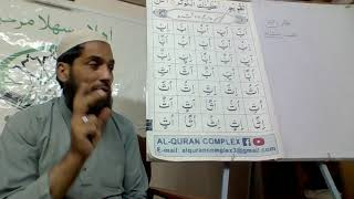 Al Quran Basic Training/Course for Tajweed (Naazra) by Qari UbaidUllah Qaida lesson Muddd 1
