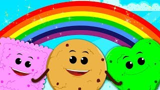 Cookie Rainbow Colors Song | Learn Colors For Kids | Nursery Rhymes & Baby Songs
