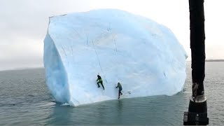 Giant Iceberg Almost Crushes 2 Men
