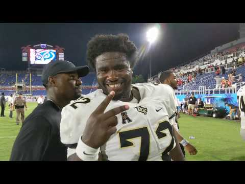 UCF 48, FAU 14 - Postgame scene after football game called early