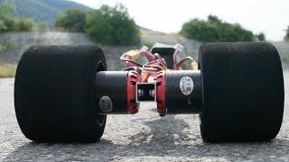DIY brushless rc dragster test