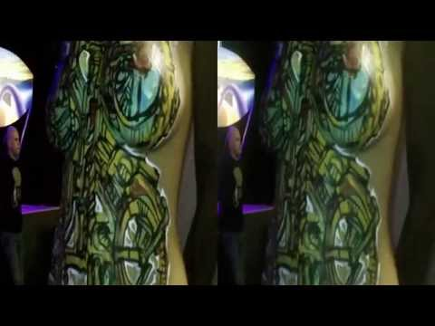 Live Body Painting @ Pancakes and Booze Art Show (YT3D:Enable=True)