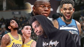 TRADE EM ALL MAGIC!! LAKERS vs TIMBERWOLVES HIGHLIGHTS