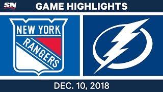 NHL Highlights | Rangers vs. Lightning - Dec 10, 2018
