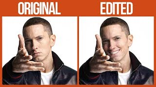 Guy Makes Eminem 'Smile' By Photoshopping His Pics And They're Too Funny | Bored Panda Listicles