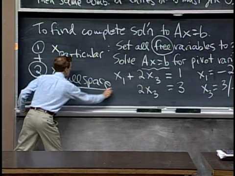 Baixar Lec 8 | MIT 18.06 Linear Algebra, Spring 2005