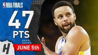 Stephen Curry Full Game 3 Highlights Warriors vs Raptors 2019 NBA Finals - 47 Pts, 8 Reb, 7 Ast