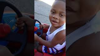 Driving with no license bad little boy