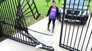 OUR GATE IS DESTROYED...