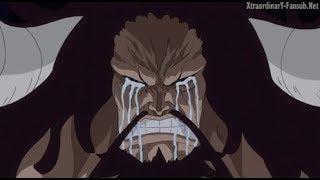 One piece...Kaido llora por la derrota y captura de Doflamingo - Sub español
