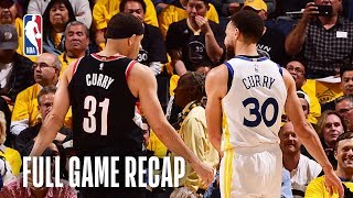 TRAIL BLAZERS vs WARRIORS | Steph Gets Hot From Deep | Game 1