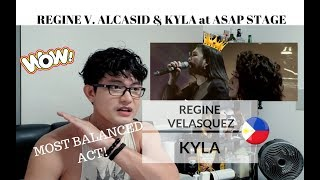 [REACTION] MOST BALANCED COLLAB! Regine V. Alcasid and Kyla in ASAP NATIN TO
