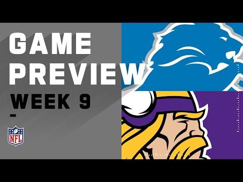 Detroit Lions vs. Minnesota Vikings | NFL Week 9 Game Preview