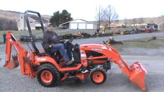 2012 Kubota BX25 Tractor Loader Backhoe Belly Mower TLB Compact Tractor 4x4 PTO