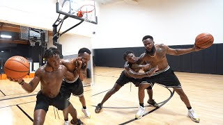1v1 Basketball Against Deestroying...Most Physical Game Ever!