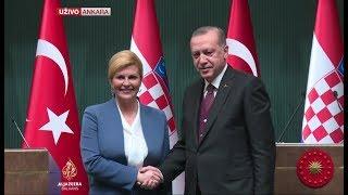 Grabar-Kitarović i Erdogan o zaključcima sastanka u Ankari