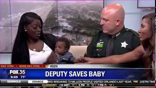 Deputy Credited With Saving Unresponsive Baby's Life