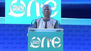 Professor Muhammad Yunus at the Opening Ceremony of the One Young World Summit 2015