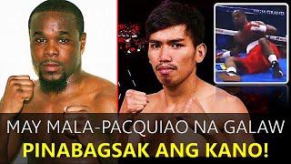 Mala-Pacquiao na galaw ng Pinoy Boxer, Pinabagsak ang Kano!