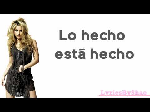 Shakira || Lo Hecho Está Hecho Lyrics (English Translation in Description)