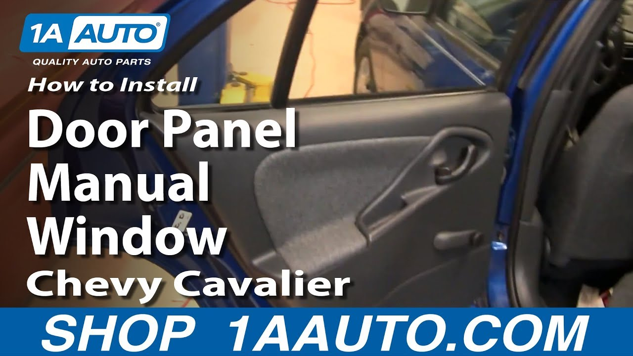 how to install replace rear door panel manual windows chevy cavalier 95 05 youtube. Black Bedroom Furniture Sets. Home Design Ideas