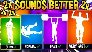 I Played My Fortnite Leaked Emotes at Different Speeds and they sounded *BETTER*..!