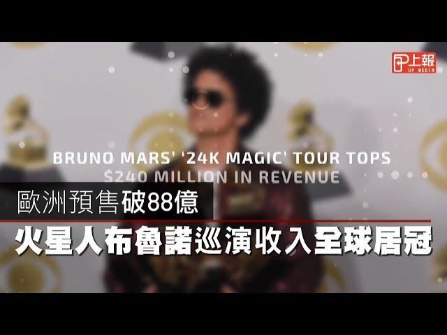 【影片】歐洲預售破88億 火星人布魯諾巡演收入全球居冠