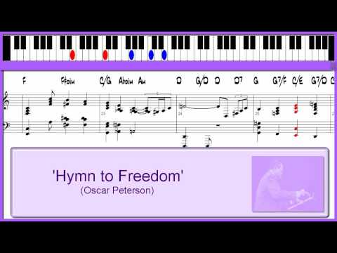 'Hymn To Freedom' - (Oscar Peterson) - jazz/gospel piano lesson