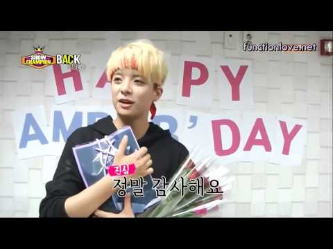 [ENG SUB] 130914 Show Champion Backstage Amber Cut