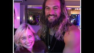 Emilia Clarke Reunites With Jason Momoa, Confirms He's Still Her Sun and Stars