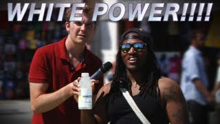 Guy Tricks People into saying White Power!!