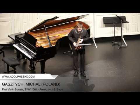 Dinant 2014 - Gastzych, Michal - First Violin Sonata, BWV 1001 - Presto by J.S. Bach