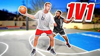 1v1 Basketball Against One Handed D1 Hooper Hooper!