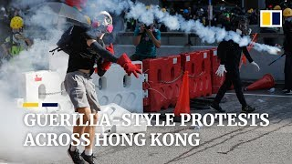 Multiple 'flash mob' style protests erupt across Hong Kong