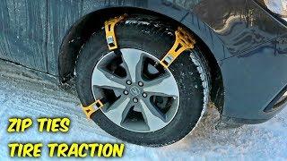Zip Ties Tire Traction Gadgets