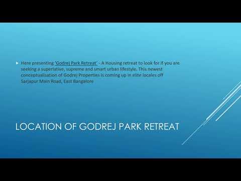 New Launch Project Development By Godrej Park Retreat
