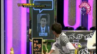 """[ENG]121106 Strong Heart Ep 153 """"Leeteuk sent text messages to his celebrity friends"""""""