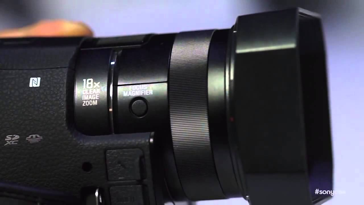 new sony 4k handycam fdr ax100 at ces 2014 first look youtube. Black Bedroom Furniture Sets. Home Design Ideas