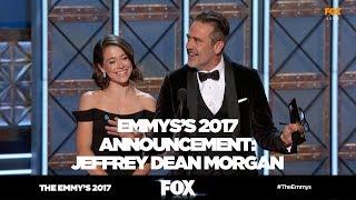 THE EMMY'S 2017 | Jeffrey Dean Morgan rocks announcement blunder | FOX