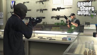 ROBBING GUN STORES IN GTA 5!!! (GTA 5 REAL LIFE PC MOD) - YouTube