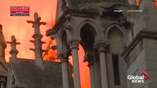 Notre Dame fire  Paris fire brigade footage shows extent of cathedral blaze   YouTube 360p