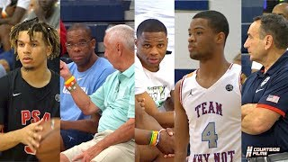 Cassius Stanley vs Cole Anthony In Front of Russell Westbrook, Coach K & Roy Williams!