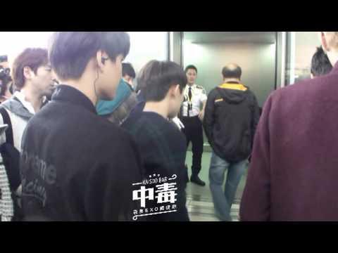 [exo开度吧] 131123 HK Airport Kaisoo Moment