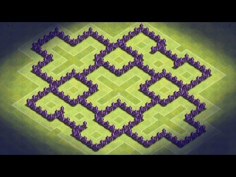 Of clans th7 dark elixir farming base optional barbarian king