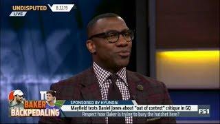 Undisputed   Shannon REACT to Mayfield texts Daniel Jones about
